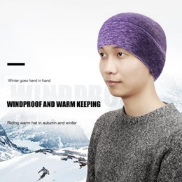 fleece earmuffs UK - Outdoor Sports Winter Thermal Fleece Warm Ski Hat Earmuffs Cycling Cap Windproof Hiking Riding Snow Men Women Knitted Hat