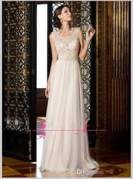 Red Illusion Neckline Formal Dress NZ - 2019 New Sparkly Long Chiffon Evening Dresses Crystal Beading Glitter Illusion Neckline New Sexy Hollow Back Floor Length Party Formal Prom