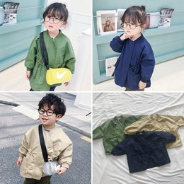 korean kids clothes winter autumn Australia - Korean Style Autumn Winter Baby Jacket Clothes Loose Waistband Windbreaker Kids Girls Jackets Coats Baby Boys Outerwear Children