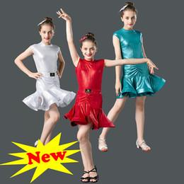 Latin Dancing Suit Australia - L21 Leotard And 352 Skirt Girl Latin Dance Dress For Girls Modern Salsa Tango Skirt Ballroom Dancing Dress Child Competition Dancewear Suit