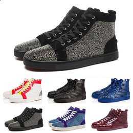 Coolest high tops online shopping - 2019 Top Quality Mens Womens Designer Genuine Leather Boots Luxury Spikes Oxford Dress Shoes Cool Fashion Youth High Top Casual Shoes