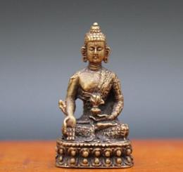 $enCountryForm.capitalKeyWord UK - 4 CM Tibetan Pure Bronze Medicine Buddha Shakyamuni Gautama Sakyamuni sculpture