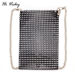 b294afb7591 Crossbody Phone Bag Diamonds Women Chain Mini Shoulder Bag Small Messenger  Bag Black Womens Handbags Purses evening clutch bags