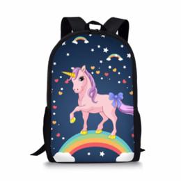 $enCountryForm.capitalKeyWord Australia - Hot Kids SchoolBag 3D Rainbow Unicorn School Bag Set Backpack for Girl Boys Schoolbag Galaxy Pink Color College Book Racksack