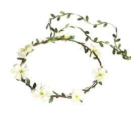 Da Donna Bianco Daisy Chain Ghirlande Matrimonio Donna Accessorio Costume Fascia Sopracciglio