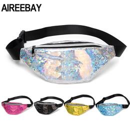 $enCountryForm.capitalKeyWord Australia - AIREEBAY Sequins Holographic Fanny Pack Pink Sliver Waist Pack Women's Laser Chest Waist Bag Women Travel Belt Bag Drop Shipping