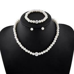 $enCountryForm.capitalKeyWord Australia - Elegant Women Simulated Pearls Jewelry Set Necklace   Earrings   Bracelets Fashion Jewelry For Lady Wedding Engagement Gift