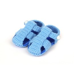 pair boys shoe Australia - 1 Pair Fashion cute soft baby boys girls colors handwork knit hollow out toddler shoes childrens crib shoes 11cm
