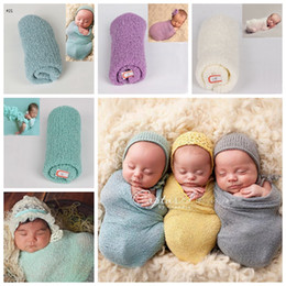 Orange phOtOgraphy online shopping - 21 colors Children s Photography Projects Studio New born Babies Photo Towel solid pure Elastic Yarn Wrapping fast shipping free