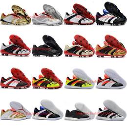 Vente en gros 2019 chaussures de football pour hommes de qualité supérieure PREDATOR ACCELERATOR Électricité FG football crampons chaussures de football en salle de football chaussures botas de futbol or