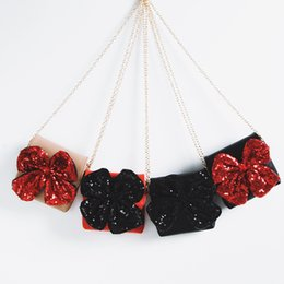 $enCountryForm.capitalKeyWord Australia - Baby Girls Big bow sequin Messenger Bag PU Leather Cartoon Cute Kids Mini Shoulder bag Boutique bow-knot Coin Purse Handbag C01