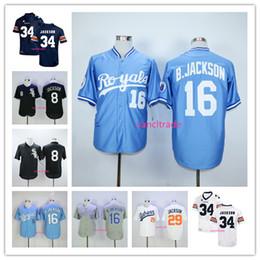 Bo Jackson Jersey Baseball Kansas City Chicago 8 Aubrun Tigers Jerseys All  Stitched Home Away White Grey Blue Black 57895831c