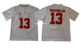 0379d0a7b Cheap custom Alabama Crimson Tide Tua Tagovailoa 13 White College Football  Jerseys Stitched Customize any number name MEN WOMEN YOUTH XS-5XL