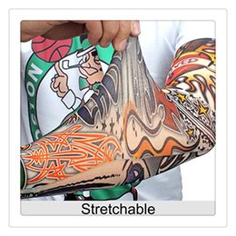 Wholesale Body Art Tattoo Sleeves Arm Unisex UV Running Cycling Sports Elasticity Compression Arm Warmer Warmers Basketball Arm Sleeves