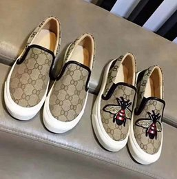 Design italian shoes online shopping - Designed for women Loafers Handmade Italian Designer Metal Letter Buckle Slip On Boat Shoes Casual Canvas Shoes Eu With Box GU3