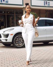 Wholesale women white summer pant suits resale online - Women s Summer Fashion Slim fit Two Pieces Office Lady Blazer Business Suit Set White Women Suits Work Skirt Pant Vest Jacket