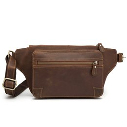 $enCountryForm.capitalKeyWord UK - Genuine Leather Men's Fanny Waist Pack Leg Hip Hop Mini Waist Pouch Bag Wallet Male Bum Belt Bag Vintage Large Capacity Beltbags
