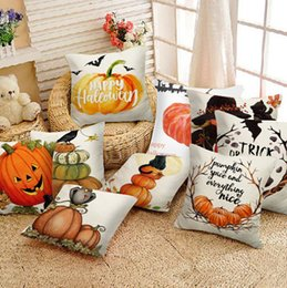 Wholesale Household Cushion Cover Halloween Pumpkin Throw Pillow Cover Pillowcases Decorative Bedroom Sofa Cushion Decorative Pillow