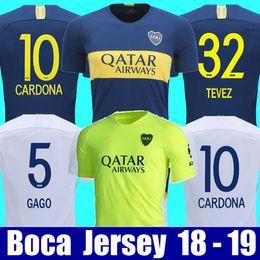 4de0af3d3 Thailand 2018 2019 Boca Juniors Fußballtrikots 18 19 GAGO TEVEZ CARDONA  BENEDETTO Fußballshirt Boca Junior PAVON Fußball-Trikot