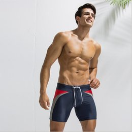 nylon blocks NZ - Mens summer swimming nylon color blocking water sports trunks swimming shorts pants