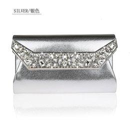 $enCountryForm.capitalKeyWord NZ - Fashion Silver Women PU bag Bride Wedding Evening Bag Clutch handbag New Party Purse Makeup Bags 915-B #252395