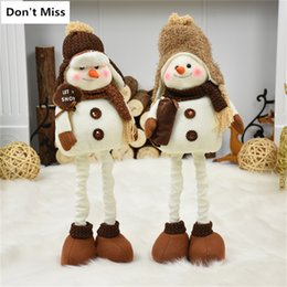 ornaments figure home NZ - Home Decoration Accessories Retractable Stand Snowman Figures Christmas Dolls New Year Decor Kids Gifts Xmas Ornament Supplies