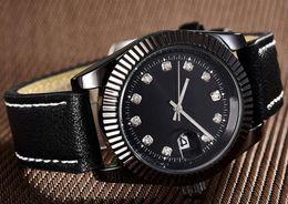 Ladies Luxury Gifts Australia - 2019 New Famous Luxury Diamond Leather Watch Christmas Gift For Ladies Women Dress Designer Fashion Black Dial Calendar Mens Watches