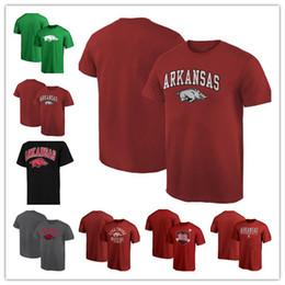 Impreso 2019 SEC Arkansas Razorbacks manga corta moda verano camiseta call cerdos cuello redondo camiseta envío gratis en venta