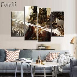Art Paintings Ideas Australia - 4pcs large HD printed oil painting Angel Girl canvas print art home decor idea wall art pictures for living room