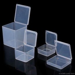 bead organizer container Australia - Small Square Transparent Plastic Jewelry Storage Boxes Beads Crafts Case Containers