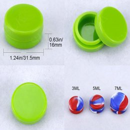 mini ecig case UK - 2016 SILICLAB Round Silicone Non Stick Wax Containers Food Grade 3mL Mini Slick Rubber Dab Wax Jars Concentrate Oil Case FDA Approved Ecig F