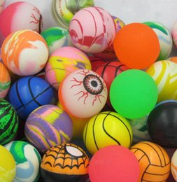 $enCountryForm.capitalKeyWord Australia - Funny Diameter 30mm Rubber Bouncing Balls Funny Toy Bouncy Ball Picture Bouncing Ball for Kids Decompression Amusement Toys Bounce Ball