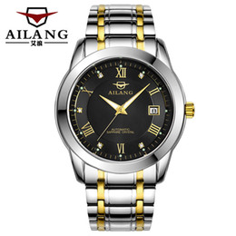 Discount swiss automatic man watches - AILANG top  automatic mechanical watch men swiss S gear edge reloj time vintage  watch diver clock Log type