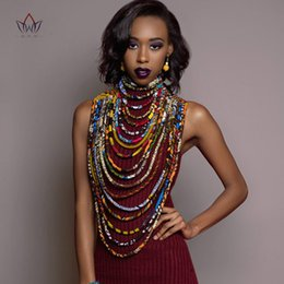Exotic Pendants Australia - 2019 Ankara Beautiful Multi Strand Necklace African Bold Colorful Long Exotic Jewelry Anfrica Handmade Necklaces WYB181