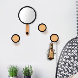 $enCountryForm.capitalKeyWord Australia - 1Pcs Home Wall Hanging Mirror Hooks Nordic Modern Minimalist Porch Wall Wooden Coat Hooks Home Living Room Practical