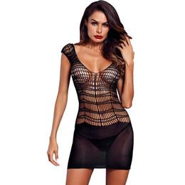 Women Sexy Lingerie Exotic Lingerie Erotic Underwear Lady Temptation  Transparent Big Mesh Sleeveless Lace Mini Nightdress 3bba7b1b5