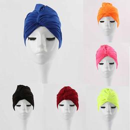 Long Hair Women Australia - Cute Swim Cap For Women Luxury Water Sport Ear Protector Bathing Cap Long Hair Protection Diving Hood Swimming Accessories M02