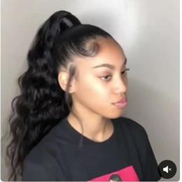 $enCountryForm.capitalKeyWord Australia - Brazilian Natural Black Virgin Drawstring Ponytail Horsetail 140g 10 To 22 Inch Weave Body Wave Real Human Hair Ponytail hair extensions