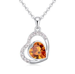 korea necklaces Australia - 2019 New pattern Boutique jewelry swarovski elements Crystal Necklace for woman Korea Austria Pendant Fire of the heart Accessories 1-1838