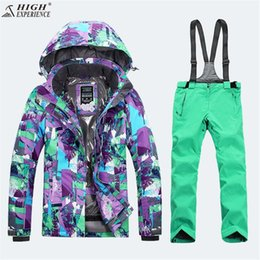 Ladies brown jackets online shopping - High Experience Ladies Snow Clothing Ski Jacket Women Skiing Pants Womens Mountain Skiing Outdoor Winter Warm Sport Suits