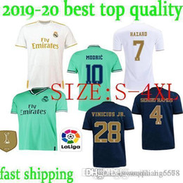 isco soccer jerseys Canada - fast ship 2019 20 Real Madrid Soccer Jersey HAZARD home away adult soccer shirt ASENSIO ISCO MARCELO madrid 19 20 men kit Football uniforms