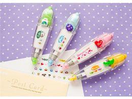 Diy Kawaii Stationery Australia - Kawaii Colorful Correction Tape DIY Cute Cartoon School Supplies Material For Kids Gift Korean Stationery Free shipping
