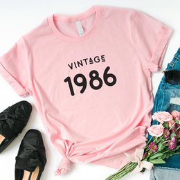 aab16277ddf9 Vintage graphic tees online shopping - Vintage Print Women T Shirt Brand th  Birthday Graphic Tee