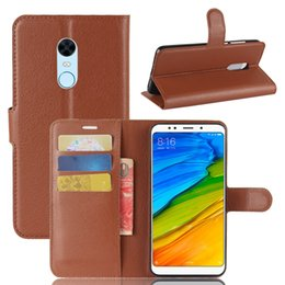 $enCountryForm.capitalKeyWord NZ - New Xiaomi red rice 5 PLUS mobile phone shell 5 PLUS mobile phone jacket litchi wallet socket bracket