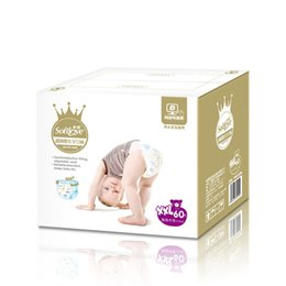 Discount wholesale magic color diaper 2019 Wholesale Ultra-thin Baby Diapers Economy Pack leakproof locks Dry and breathable Diaper Size M C5846