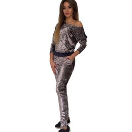 $enCountryForm.capitalKeyWord UK - Sexy Women Tracksuit Velvet Two Piece Set Hoodies Top + Pants Ladies Long Sleeve Outfit Suits Womens Clothing