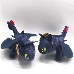 dragon night fury plush NZ - Toothless Night Fury Plush Toys 25cm How to Train Your Dragon Plush Toys Toothless Night Fury Stuffed Animal Plush Doll Toys for Kids 12pcs