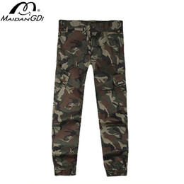 camouflaged trousers NZ - MAIDANGDI 2020 Camouflage Combat suit casual waterproof light Ice silk Large size men's trousers Fitness Sweatpants