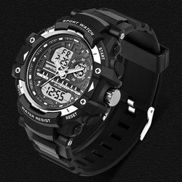 Dive Watches For Men Australia - 2019 SANDA Fashion Waterproof Sport Watch Men Camping Diving Wrist Watches Geneva Clock For Male Saat Relogio Masculino