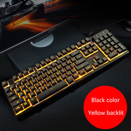 macbook colors NZ - 104 Keys Mechanical Feel Keyboard 3 Colors Backlit Gaming Keyboard USB Wired Keypad For Macbook Lenovo Asus Dell HP PC Computer